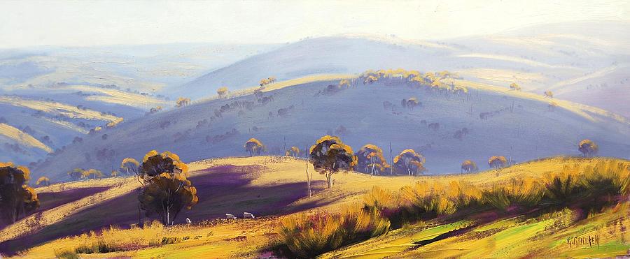 Blue Mountains Painting - Kanimbla Valley by Graham Gercken