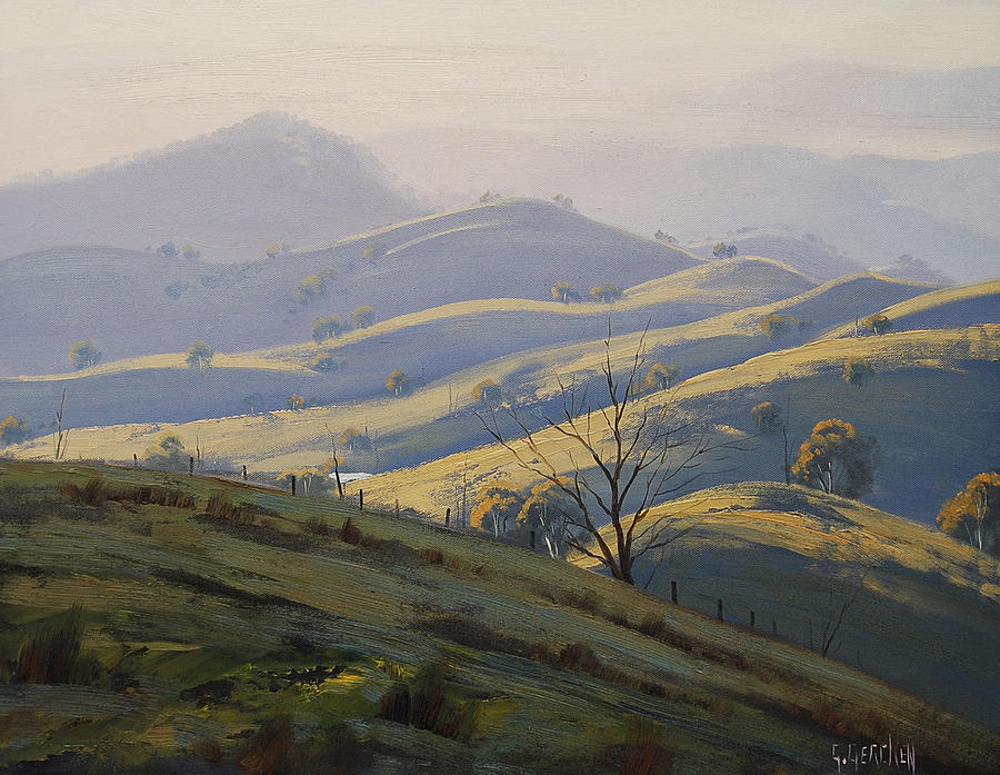 Central Tablelands Painting - Kanimbla Valley Morning by Graham Gercken