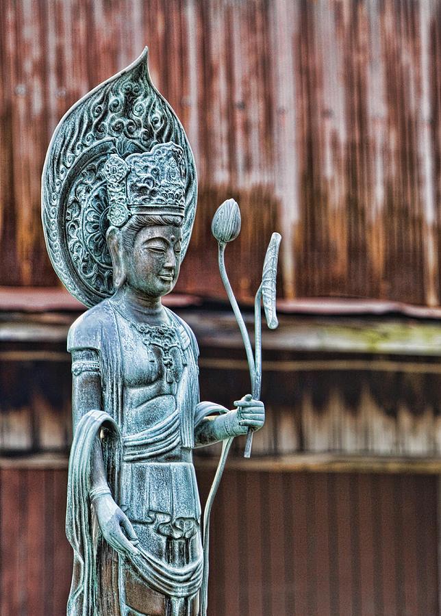 Buddha Photograph - Kannon Bodhisattva by Karen Walzer