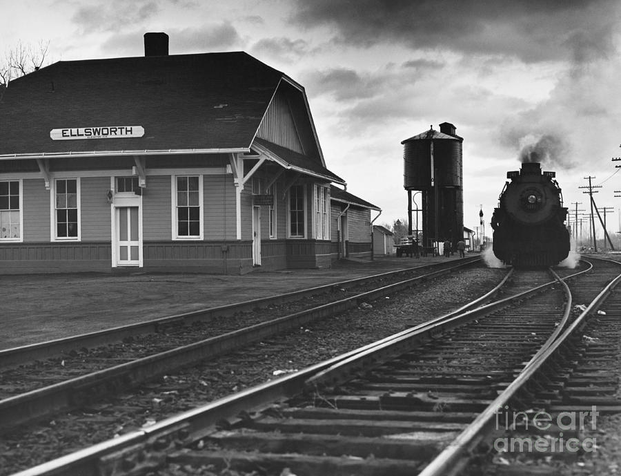 Transport Photograph - Kansas Train Station by Myron Wood and Photo Researchers