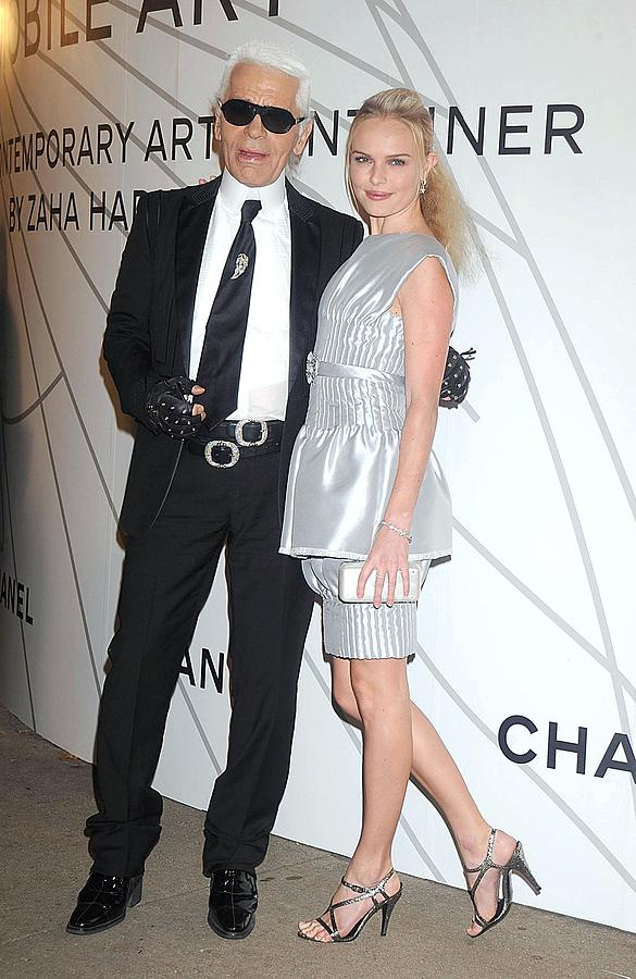 Opening Night Photograph - Karl Lagerfeld, Kate Bosworth Wearing by Everett