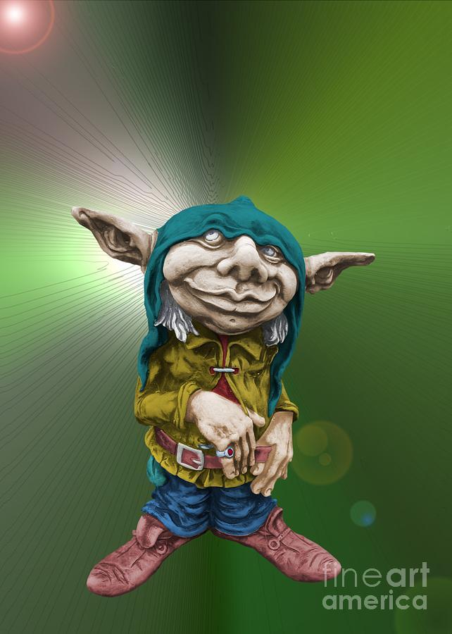 Fantasy Photograph - Karlchen The Goblin by Sandra Beikirch
