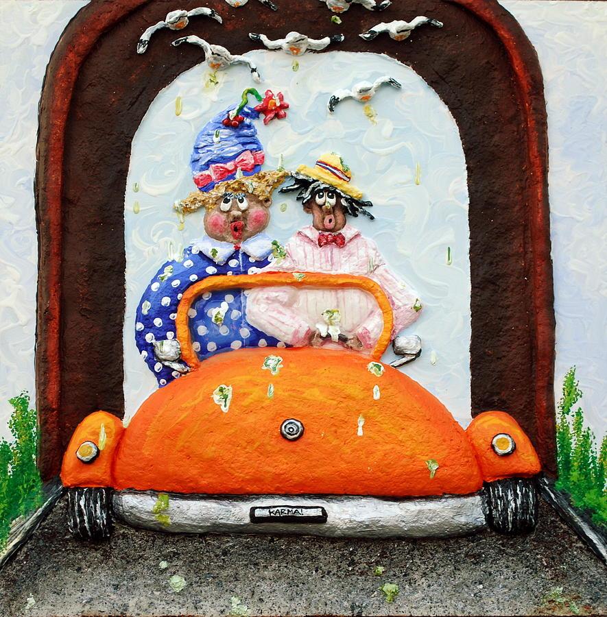 Car Painting - Karma by Alison  Galvan