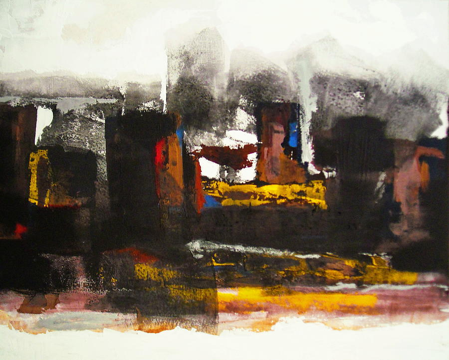 Kasbah Painting by Mohamed KHASSIF