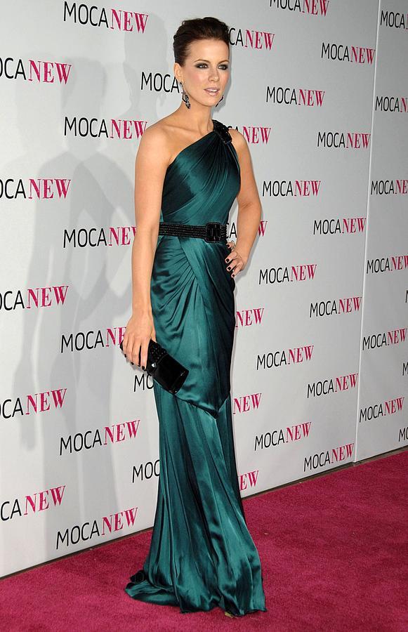 Kate Beckinsale Photograph - Kate Beckinsale Wearing An Andrew Gn by Everett