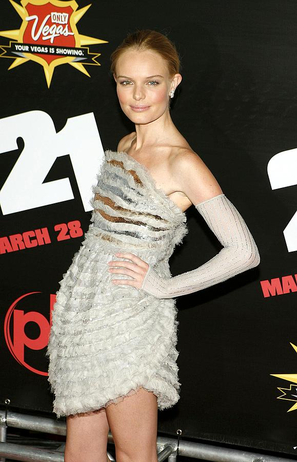The Premiere Of Columbia Pictures'' 21 Photograph - Kate Bosworth  Wearing A Chanel Couture by Everett