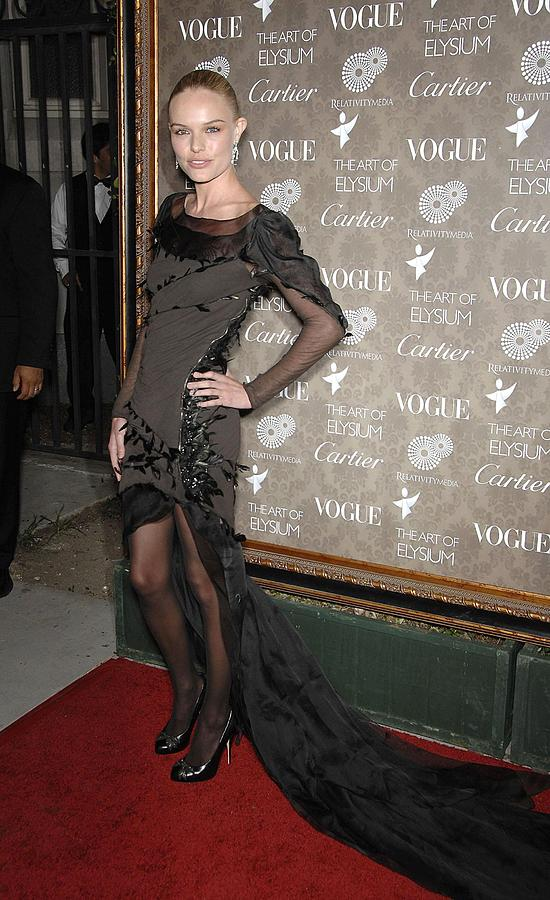 Gala Photograph - Kate Bosworth Wearing A Nina Ricci Gown by Everett