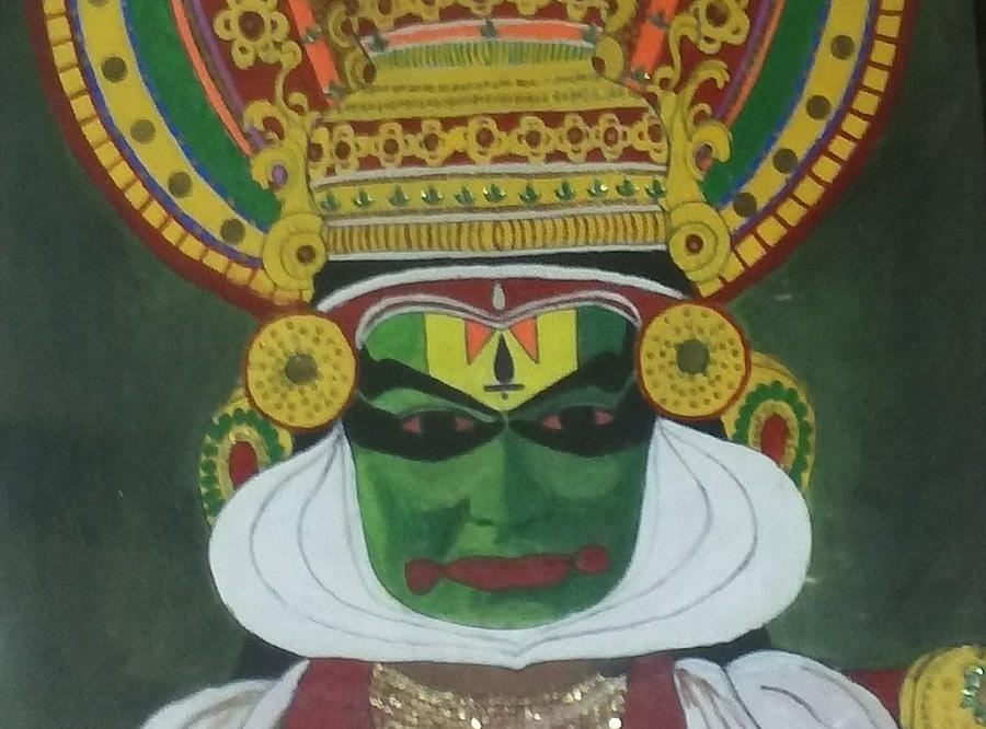 Landscape Drawing - Kathakali by Shashi Kumar