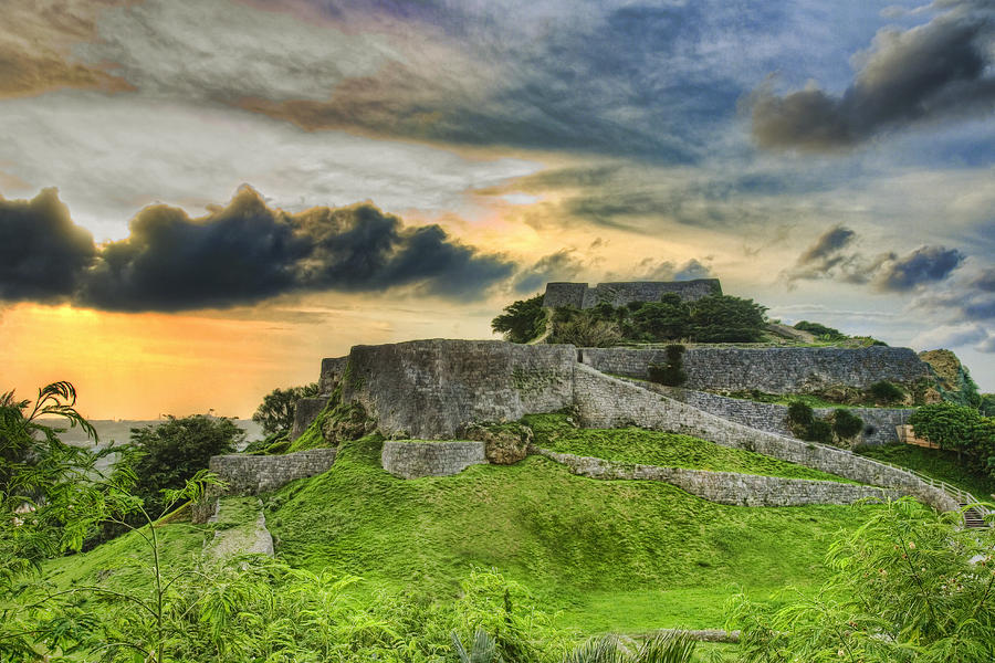 Castle Photograph - Katsuren Gusuku  by Karen Walzer