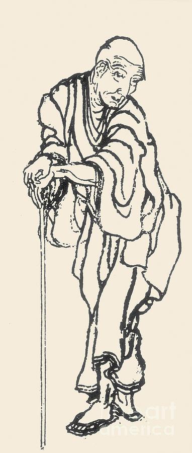 18th Century Photograph - Katsushika Hokusai by Granger