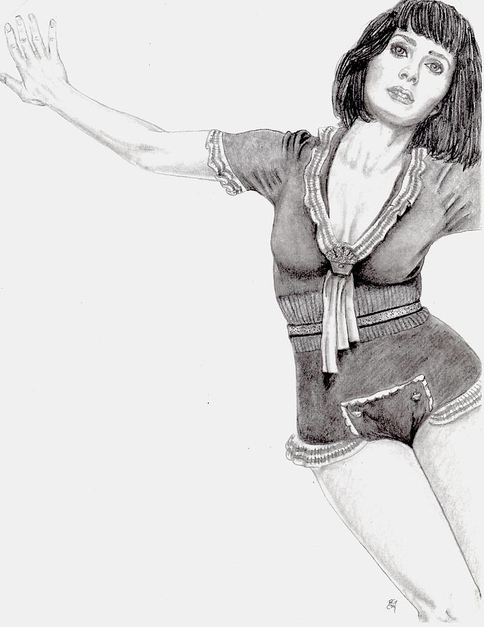 Katy Drawing - Katy Perry by Blake Grigorian