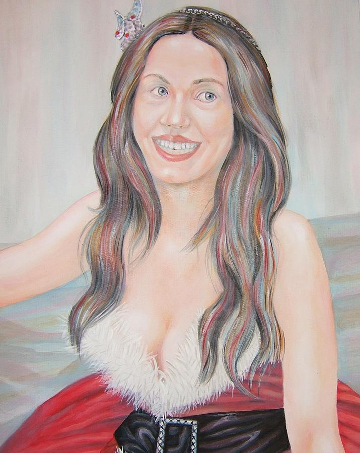 Woman Painting - Katy Perry by Nasko Dimov