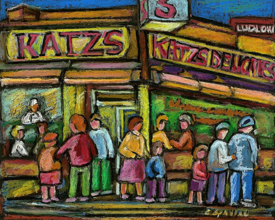 New York City Painting - Katzs Houston Street Deli by Carole Spandau
