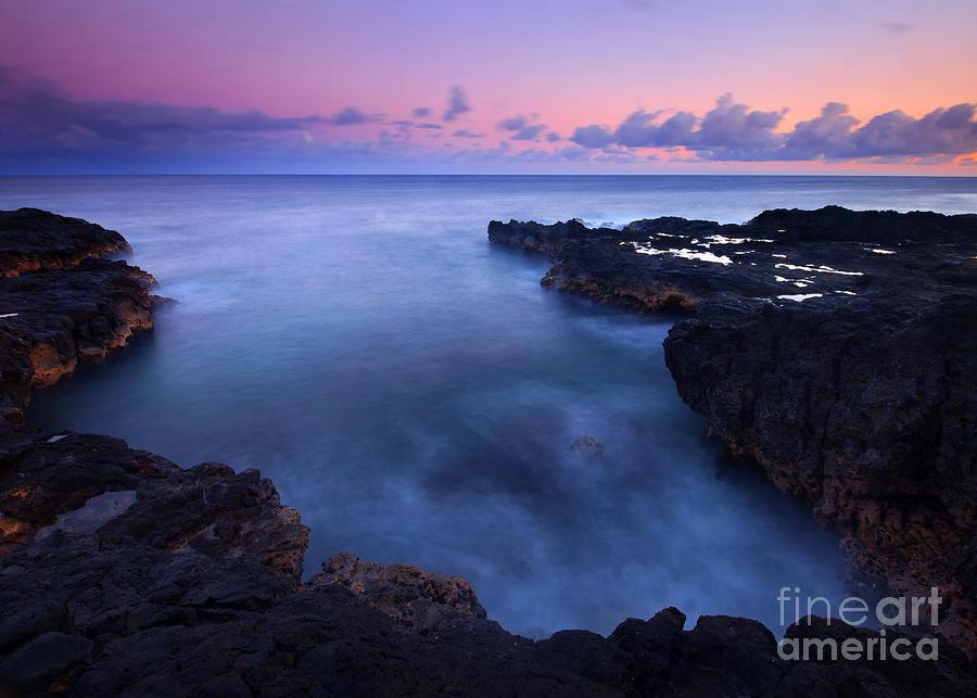 Dusk Photograph - Kauai  Pastel Tides by Mike  Dawson