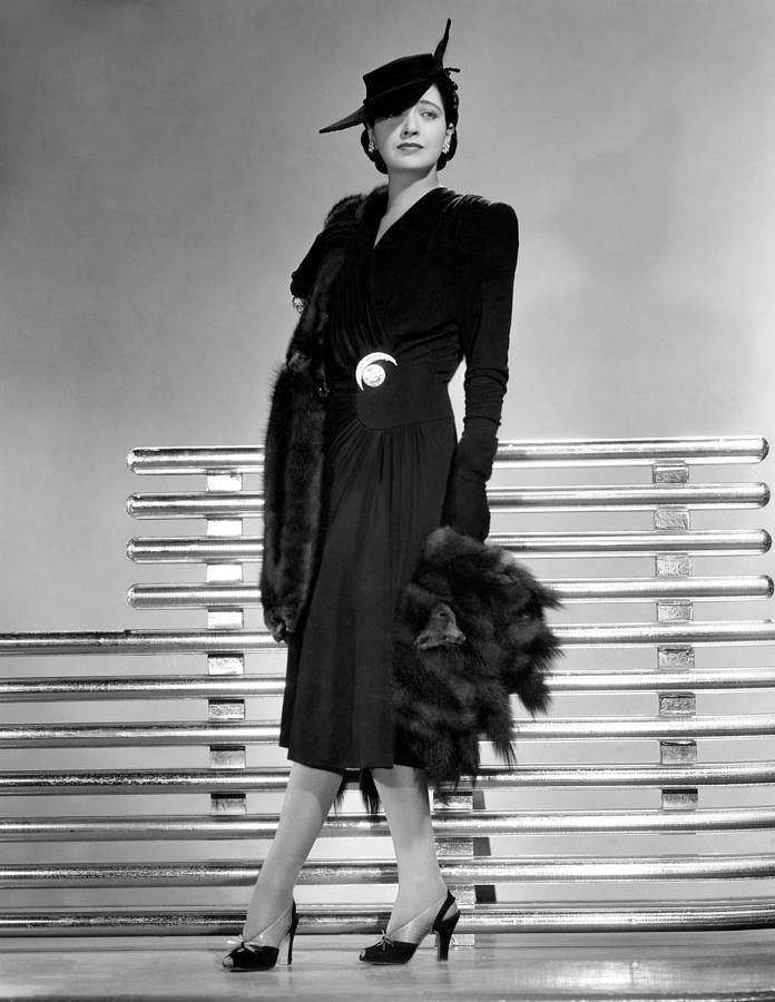 1940s Fashion Photograph - Kay Francis, 1941 by Everett