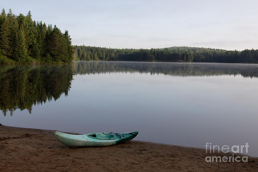 Kayak Photograph - Kayak On Pog Lake by Chris Hill