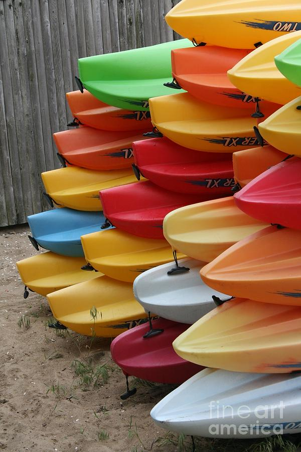 Kayak Photograph - Kayaks by Kerryn Davis