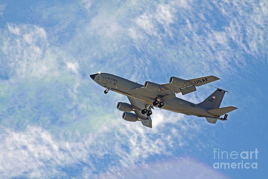 Air Force Photograph - Kc-135 With Clouds by Kenny Bosak