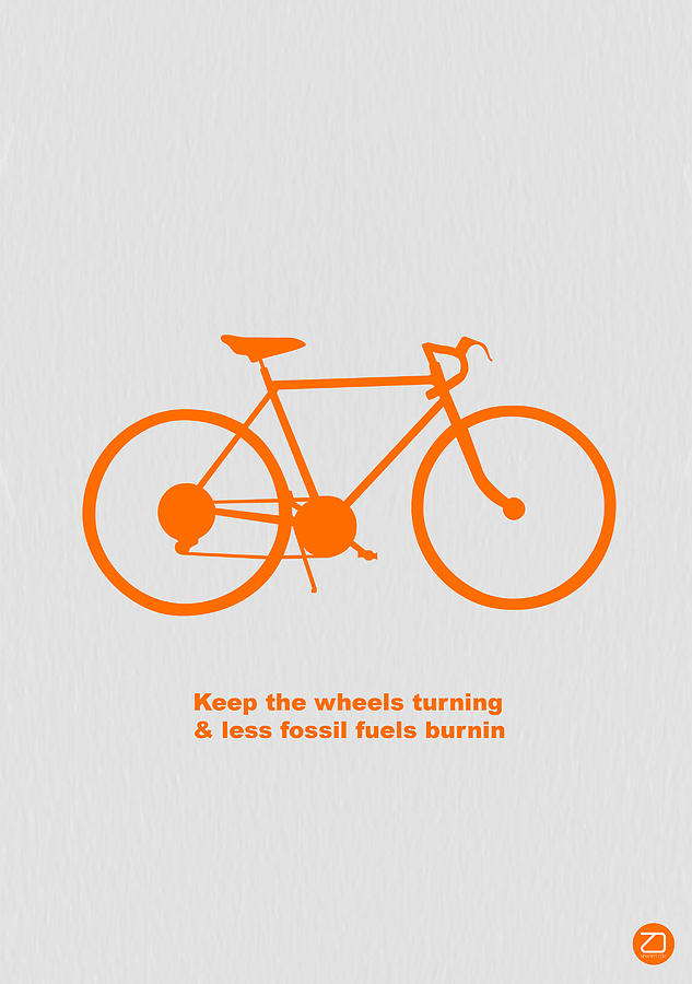 Bicycle Photograph - Keep the wheels turning by Naxart Studio
