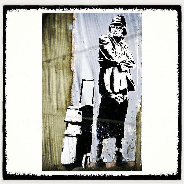 Banksy Photograph - Keeping It Old School#banksy #stencil by A Rey