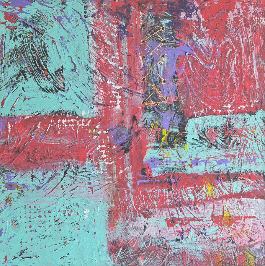 Abstract Painting - Keeping It Together by Wayne Potrafka