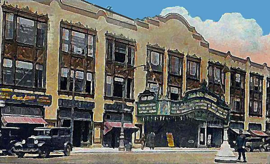 Theaters Painting - Keith Albee Theatre In Flushing Queens N Y In 1934 by Dwight Goss