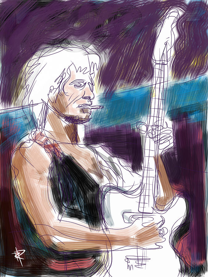 Keith Richards Mixed Media - Keith by Russell Pierce