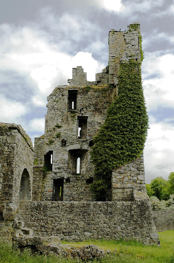 Ruins Photograph - Kells Abbey Tower by George Crawford