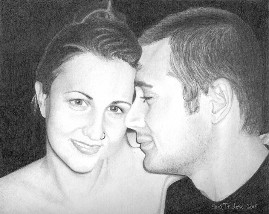 Portrait Drawing - Kelly And Chris Lanktree by Ana Tirolese