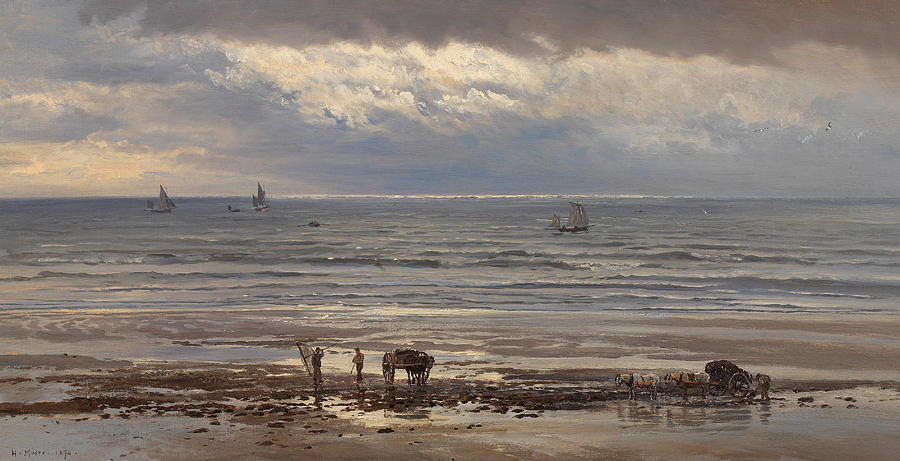 Seascape Painting - Kelp Gatherers by Henry Moore