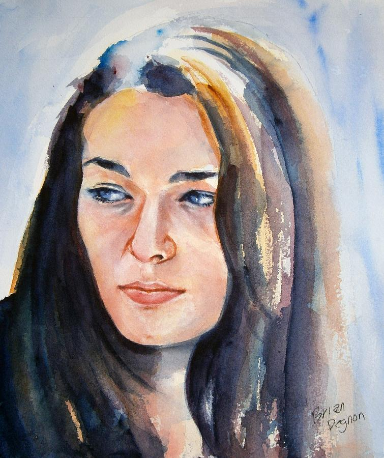 Watercolor Painting - Kelsey by Brian Degnon