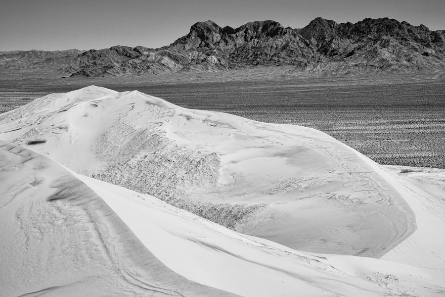 Sand Dunes Photograph - Kelso Sand Dunes 2 Bw by Kelley King
