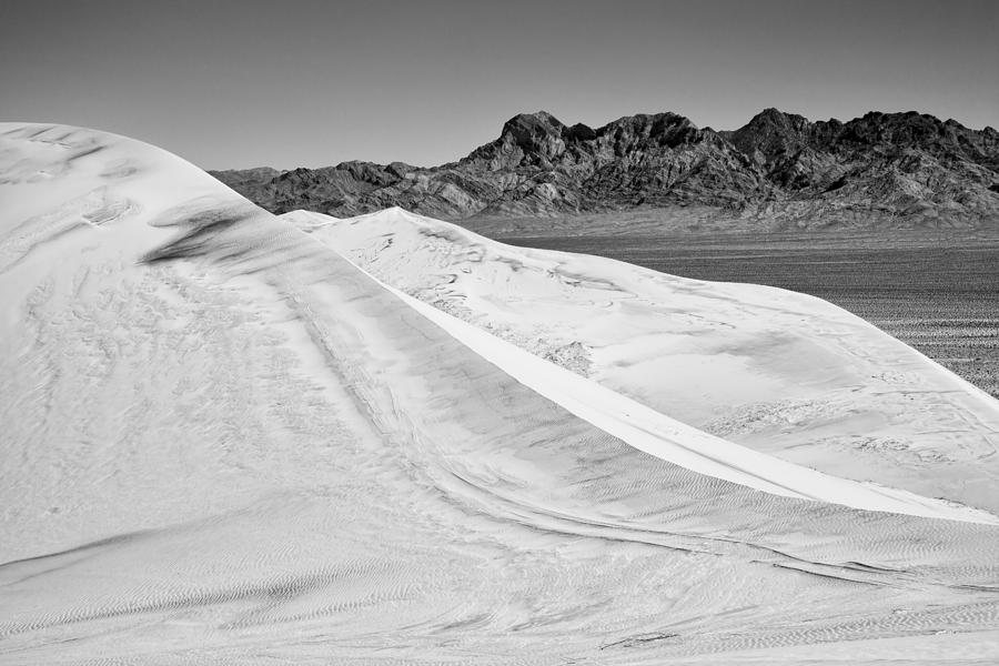 Kelso Sand Dunes Photograph - Kelso Sand Dunes Bw by Kelley King