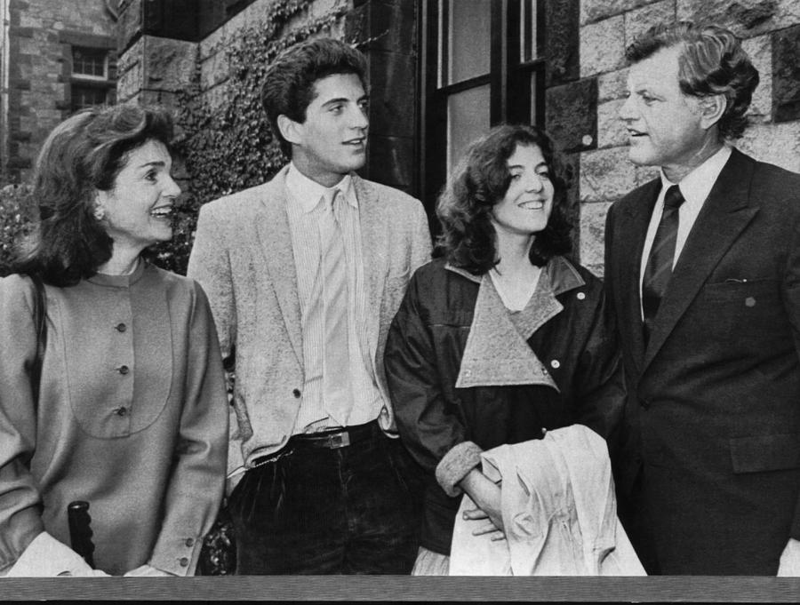 1980s Photograph - Kennedy Family. From Left  Former First by Everett