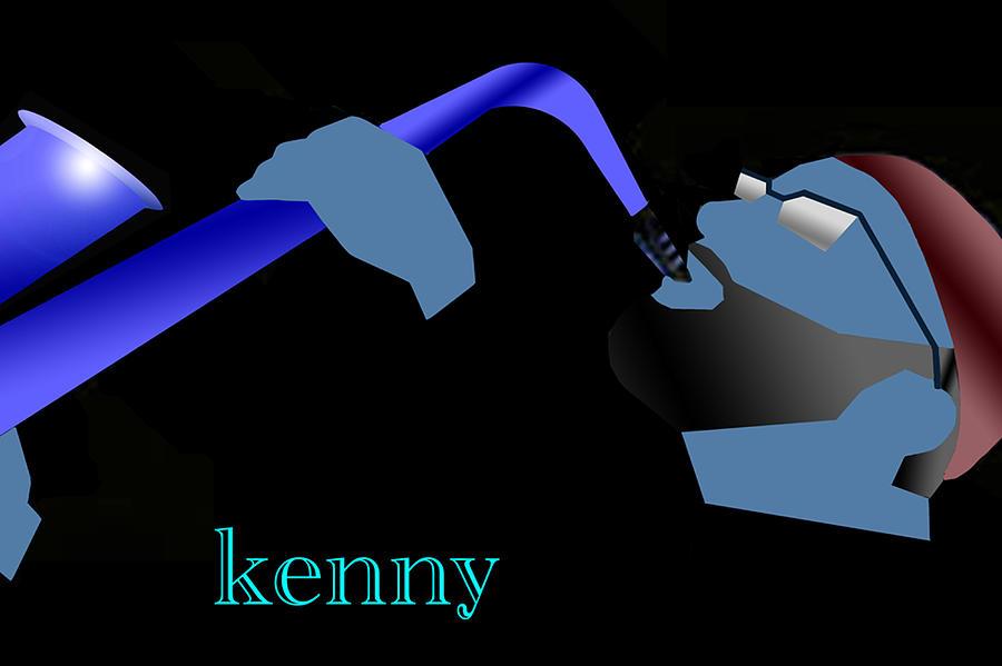 Jazz Digital Art - Kenny Garrett Blue by Victor Bailey