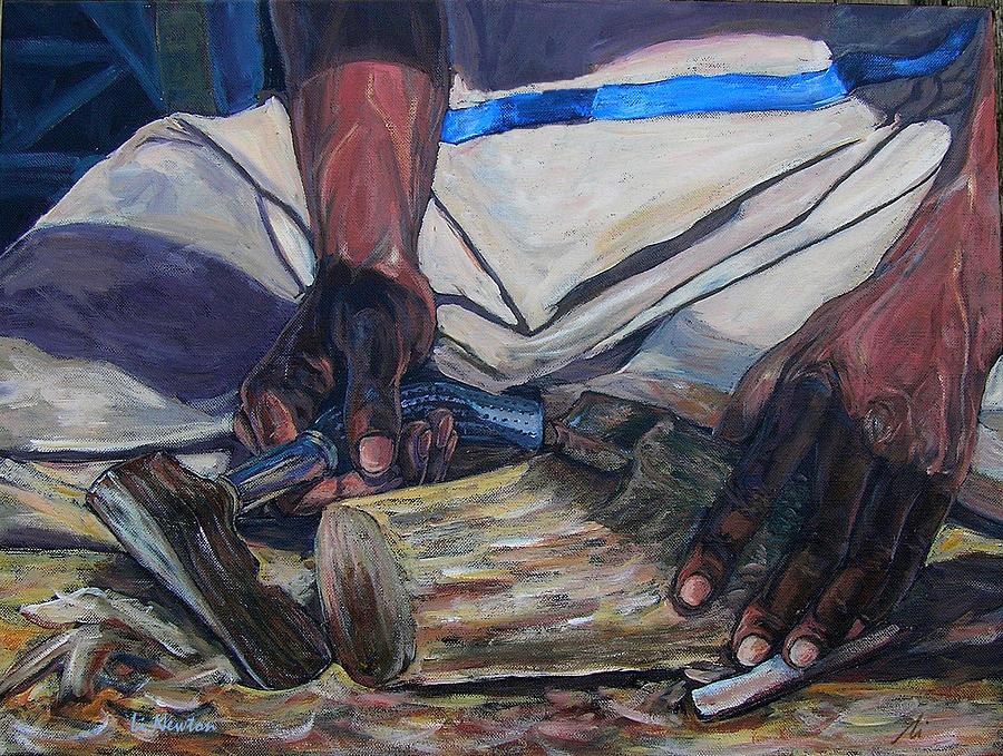 Acrylic Painting - Kennys Hands by Li Newton