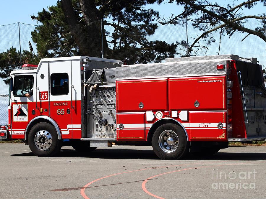 Kensington Photograph - Kensington Fire District Fire Engine . 7d15854 by Wingsdomain Art and Photography