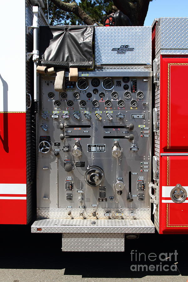 Kensington Photograph - Kensington Fire District Fire Engine Control Panel . 7d15856 by Wingsdomain Art and Photography