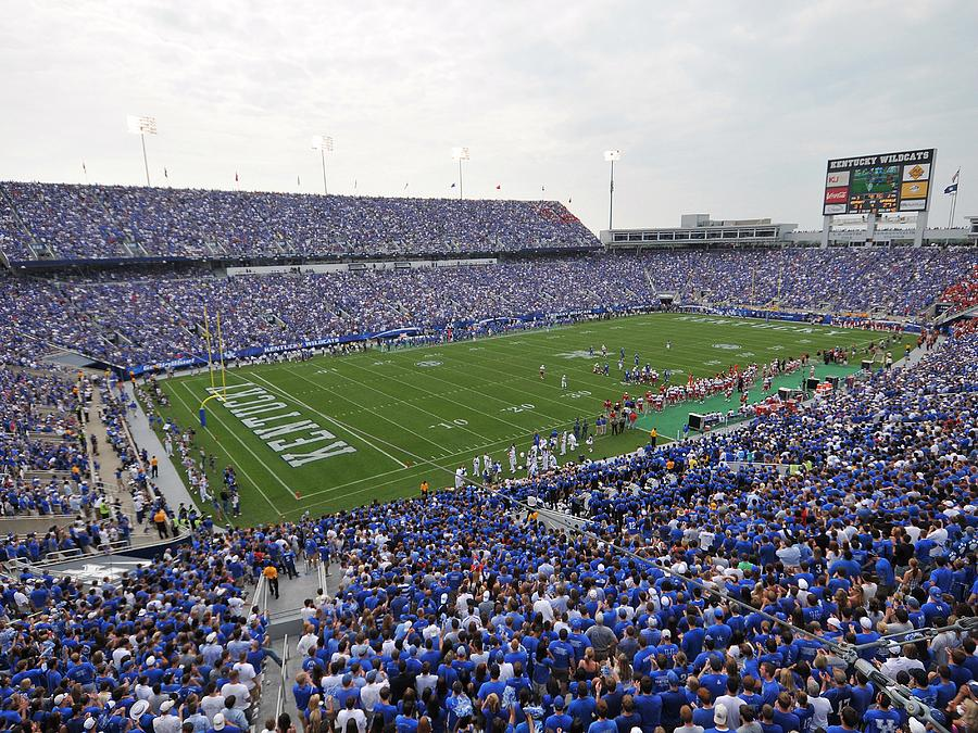 University Of Kentucky Athletics October An Exciting: Kentucky Commonwealth Stadium Photograph By University Of