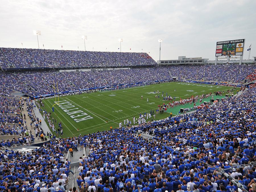 Lexington Photograph - Kentucky Commonwealth Stadium by University of Kentucky