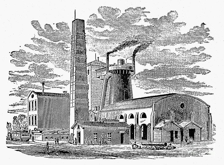 1876 Photograph - Kentucky: Factory, 1876 by Granger