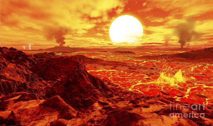 kepler 10b is the first extrasolar digital art by ron miller