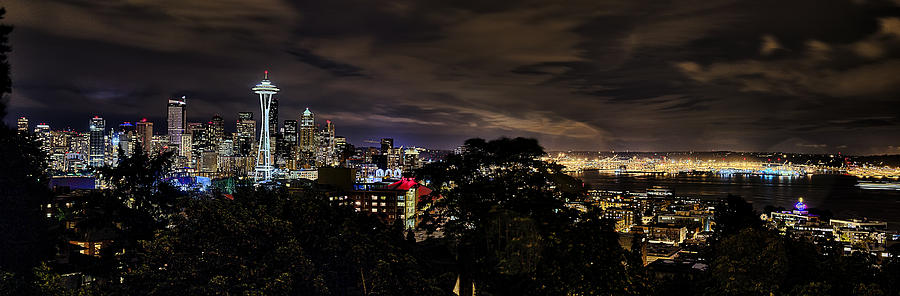 Seattle Photograph - Kerry Park Night View by James Heckt