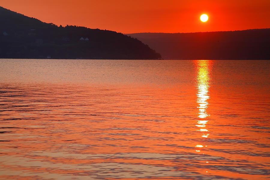 Dawn Photograph - Keuka Sunrise  by Steven Ainsworth