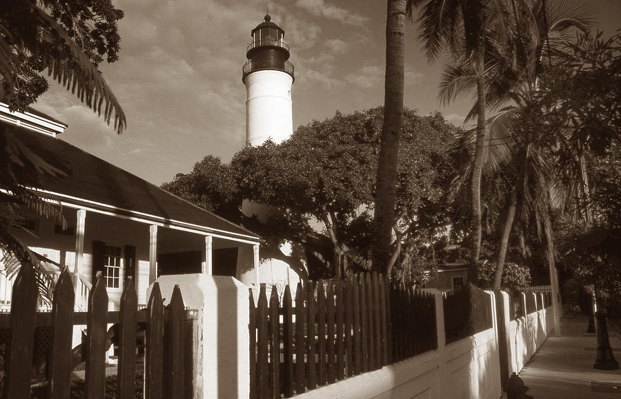 Lighthouse Photograph - Key West Lighthouse by Skip Willits
