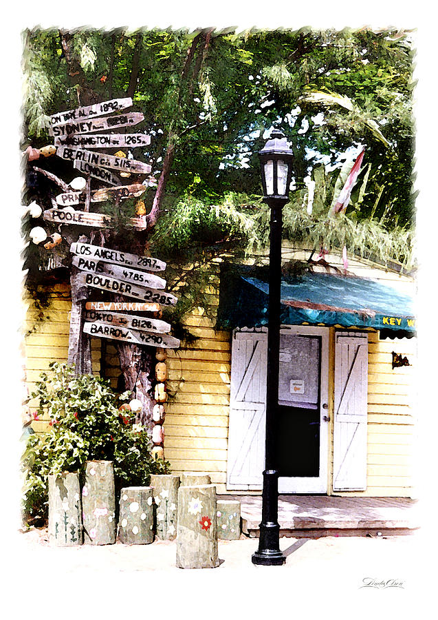 Key West Photograph - Key West Signs by Linda Olsen
