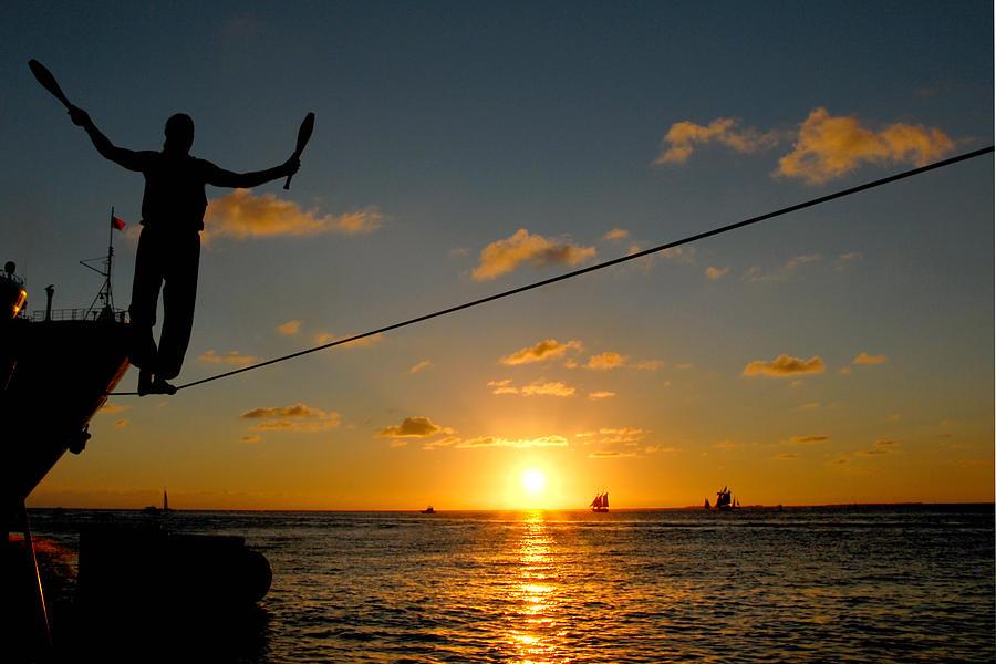Key West Photograph - Key West Sunset Performance by John Banegas