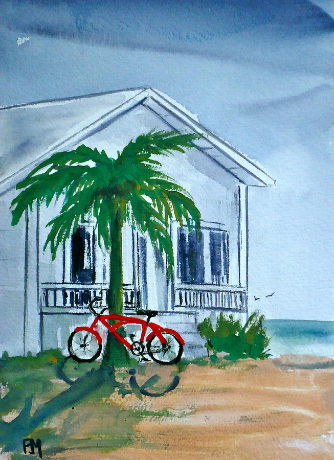 Beach House Painting - Keyless by Pete Maier