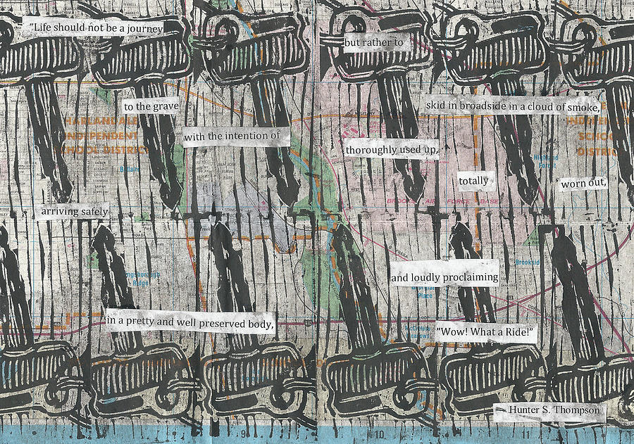 Key Drawing - Keys on Map by William Cauthern