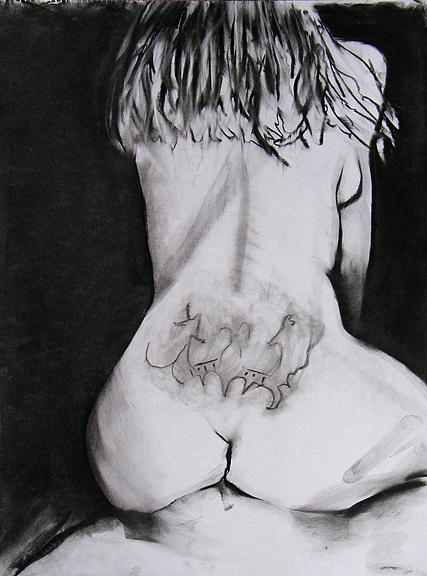 Nude Drawing - Kickback by Brad Wilson